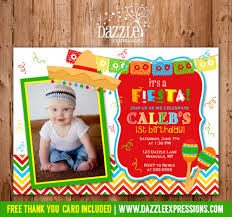 printable fiesta birthday invitation kids party mexico taco