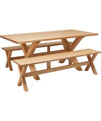 rectangular pine dining table buy hudson solid wood dining table and 2 benches pine at argos co