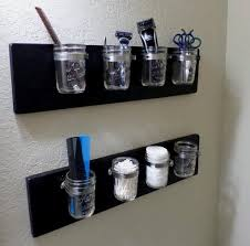 Mason Jar Bathroom Organizer Category Mason Jars Stained Hands Studio