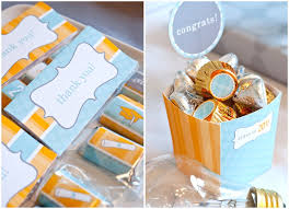 high school graduation party favors a and sweet candy bar for a graduation party decoration idea