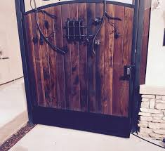 ornamental iron gate wood iron el dorado ca
