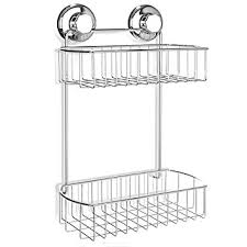 amazon com hasko accessories shower caddy with suction cup