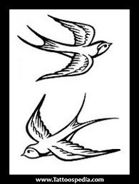simple sparrow tattoo designs