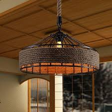 Edison Pendant Lights Vintage America Country Iron Edison Rope Pendant Lights Vintage