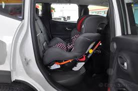 jeep renegade convertible rear facing convertible car seat fits but forces passenger to the