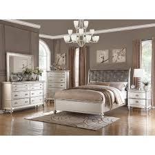 bedroom furniture free shipping saveria 6 piece silver bedroom furniture set free shipping today