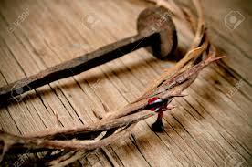 a depiction of the crown of thorns of jesus christ with blood
