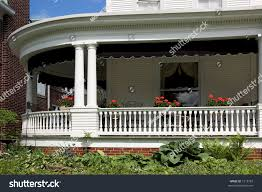 wrap around front porch large wrap around front porch lots stock photo 1315783