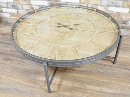 Clock Coffee Table Large Wooden Clock Coffee Table Melody Maison