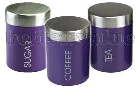 purple kitchen canisters kitchen canisters tins storage airtight coffee sugar tea black