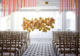 wedding backdrop balloons wedding alters ideas finishing touches wedding altar decor
