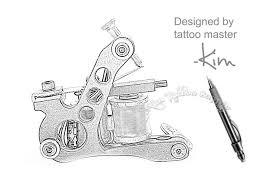 tattoo gun sketch high quality iron max liner tattoo machine pd025 aim tattoo