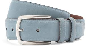 light brown suede belt lyst brooks brothers edge painted suede belt in blue
