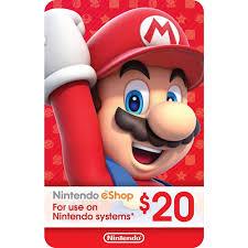nintendo gift card nintendo eshop gift card usd 20 s end 11 30 2019 6 15 pm
