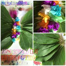 mini monets and mommies kids u0027 butterfly plant art activity