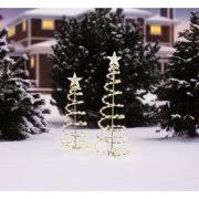 time lighted spiral tree sculptures clear