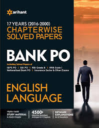 bank po english language 17 years 2000 2016 chapterwise