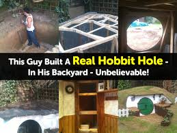 hobbit hole this guy built a real hobbit hole in his backyard unbelievable