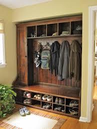 rustic built in entry way seating garage pinterest coat