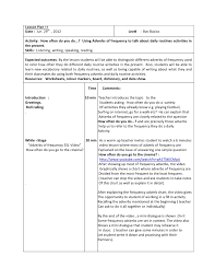 lesson plan 11 octavo basico adverbs of frequency