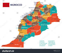 6 Flags Map Morocco Map Flag Vector Illustration Stock Vector 700732696