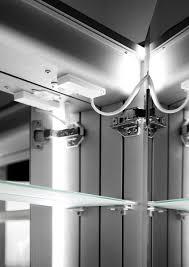 eliza led bathroom cabinet with demister pad sensor u0026 shaver k380