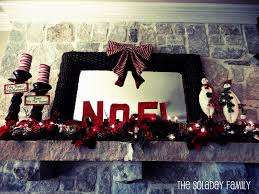 guest project christmas decor burlap paper mache letters