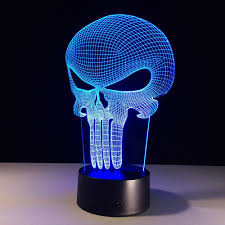 3d Lamps Amazon Amazon Com Superniudb 3d Skull Night Light 7 Color Change Led