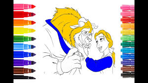 beauty and the beast coloring pages for kids how to draw and