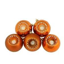 32ct matte burnt orange shatterproof ornaments 3 25