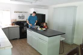 Valspar Kitchen And Bath Enamel by Our Painted Kitchen Cabinets Chris Loves Julia