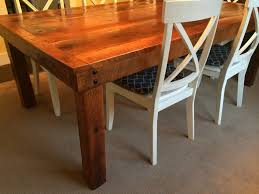 Salvaged Wood Dining Room Tables by Barn Wood Table Reclaimed Wood Furniture Rustic Recovered Barn