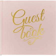 guest book pastel perfection pink and gold guest book hobbycraft
