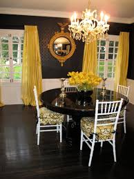 Nature Or Nurture Yellow And Black Dining Room Walls Pattern