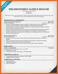 No Experience Phlebotomy Resume Download 10 Professional Phlebotomy Resumes Templates Free
