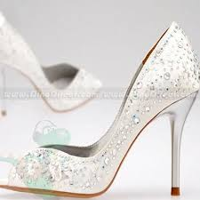 wedding shoes peep toe broosele rhinestone peep toe high heel bridal wedding shoes