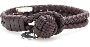 leather bracelet knots images Lyst bottega veneta knot woven leather bracelet in black jpeg