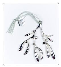 mistletoe ornaments for tree silver by