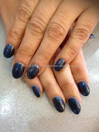eye candy nails u0026 training oval acrylic nails finished with navy