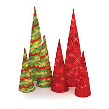 lighted sisal cone trees time pottery cone