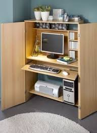 Modern Desk Armoire White Modern Computer Armoire With Accessories Furniture
