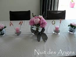 deco table rose et gris deco table bapteme fille rose et gris idées de décoration et de