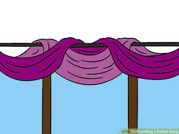 How To Make Curtain Swags How To Hang A Curtain Swag 9 Steps With Pictures Wikihow