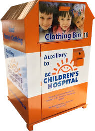 clothing donation bin program auxiliary bc children u0027s