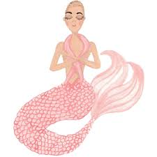 a mermaid in honor of national breast cancer awareness month