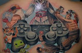 video game tattoo ideas lots of pictures to give you video game