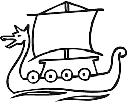 ship of the vikings middle age coloring page history amazing