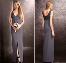 vera wang bridesmaid vera wang charcoal v neck column bridesmaid dress recent bridal