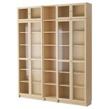 Bookshelves Glass Doors by Ikea Billy Oxberg Bookcase White Adjustable Shelves Can