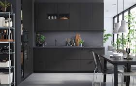 Cutting Kitchen Cabinets Cabinets U0026 Storages Amazing Black Mate Stylish Ikea Wooden